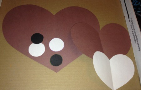 Heart Shaped Paper Groundhog  - cut out other pieces