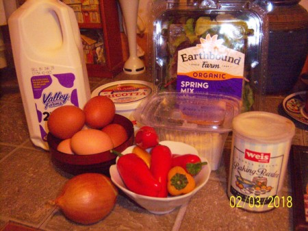 Ricotta Frittata ingredients