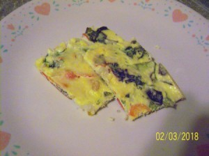 Ricotta Frittata on plate