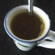 Homemade Vegetable Bouillon in cup
