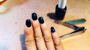 Trimming and Upkeep of Acrylic Nails - nails after drying