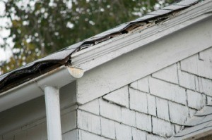 A roof badly in need of repair.