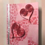 Valentine's Day Hearts Card - hearts added and rhinestone strip
