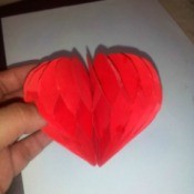 Pop Heart Decoration - finished heart