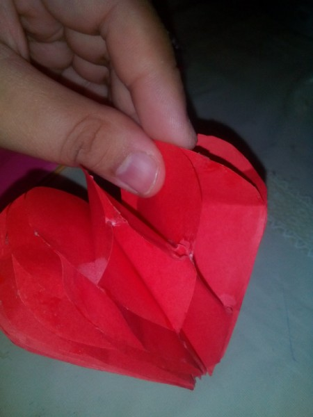 Pop Heart Decoration - glue together for a 3-D decoration