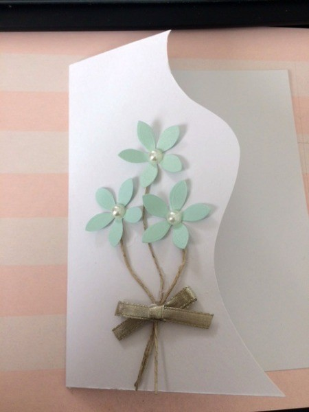 """Floral """"Feel Better Soon"""" Card - tie or add a bow"""