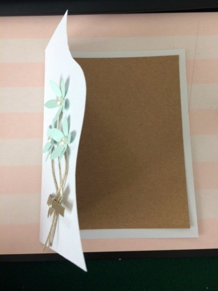 """Floral """"Feel Better Soon"""" Card - cut a piece of contrasting paper for the inside of the card"""