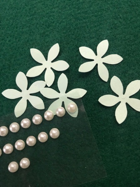 "Floral ""Feel Better Soon"" Card  - paper flowers and pearls"