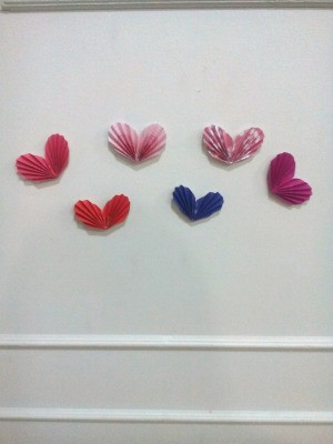 Tiny Hearts Wall Decor - finished hearts