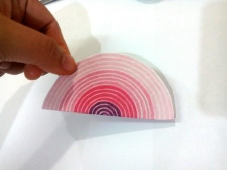 Tiny Hearts Wall Decor - fold a circle in half