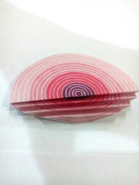 Tiny Hearts Wall Decor - make accordion folds on half of the circle