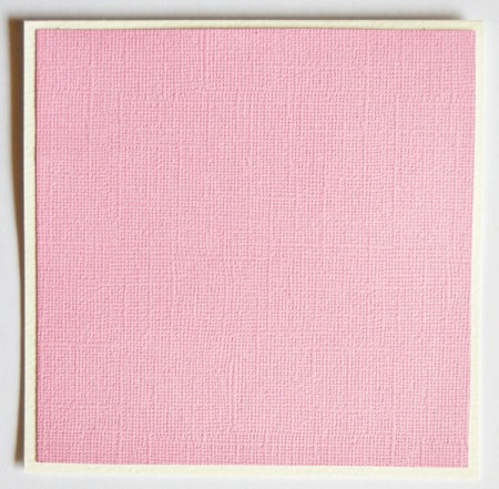 Turtle Dove of Love Valentine Card  - fold the white cardstock to form the card, glue the pink cardstock to the front