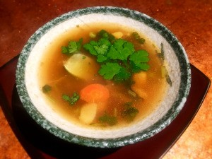 bowl of Spicy Ginger Lime Soup