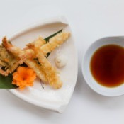 Tempura shrimp with Dipping Sauce.