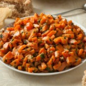 Traditional Moroccan Carrot Salad.