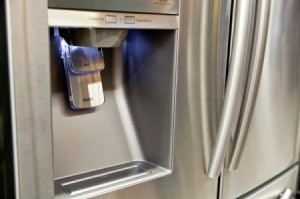Closeup of Fridge Water Dispenser.