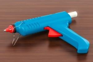 Blue glue gun.