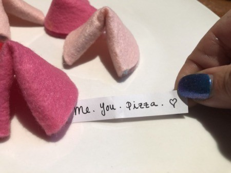 Felt Fortune Cookies - close back up and they are ready to go