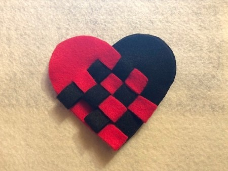 Woven Felt Heart - they will hold tightly without any glue