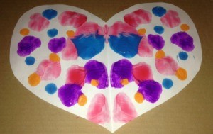 Heart Symmetry Paintings - finished heart