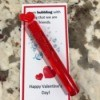 Personalized Valentine's Day Card - finished card and bubble wand