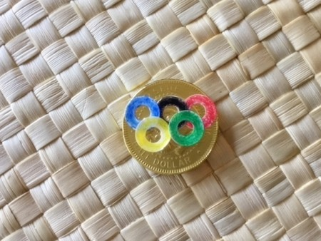 Edible Olympic Medals - create Olympic motif on gold medal