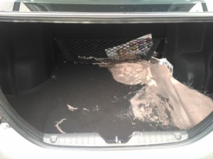 Removing Spilled Paint Odor from a Car -  paint spill in trunk