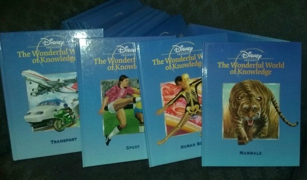 value of disney the wonderful world of knowledge 1999 front cover of 4 books