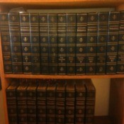 Value of a Set of 1768  Encyclopedia Britannica - books on bookshelf