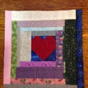 Community Quilt Block  - scrappy test block