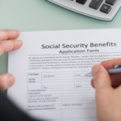 Filling out Social Security Benefits Form