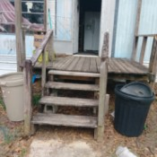 Finding Free or Inexpensive Building Materials - porch in need of repair