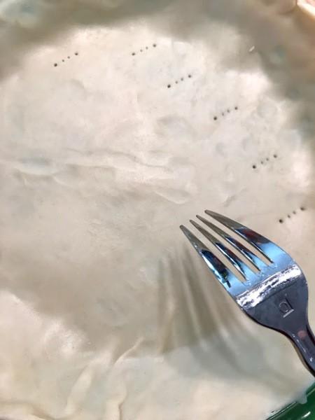 forking pie crust