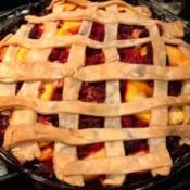baked Peach Raspberry Pie