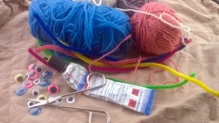 Making a Woolly Monster - supplies