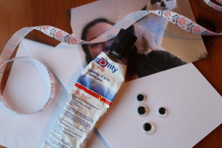 Crazy Wiggle Eye Greetings Card - supplies