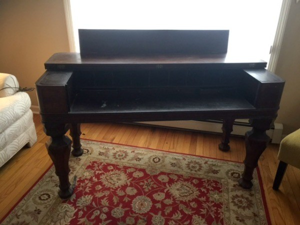 Does anyone know what type of desk this is or where it may have been made?  I can't find any markings. - Identifying An Antique Desk ThriftyFun