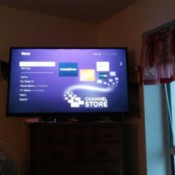 A TV screen streaming free channels.
