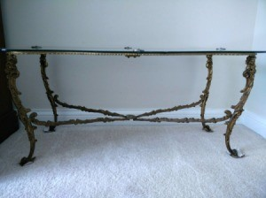 Value of Castcraft Tables - glass topped cast metal table