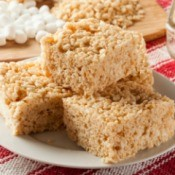 Rice Crispy Treats on a plate
