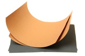serval sheets of different sandpaper