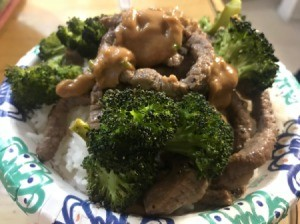 Beef Stir Fry with Roasted Broccoli