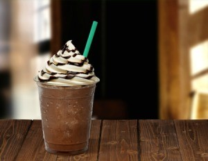 Blended Starbucks coffee drink