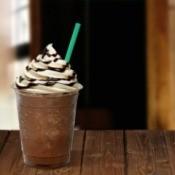 Blended Starbucks coffee drink