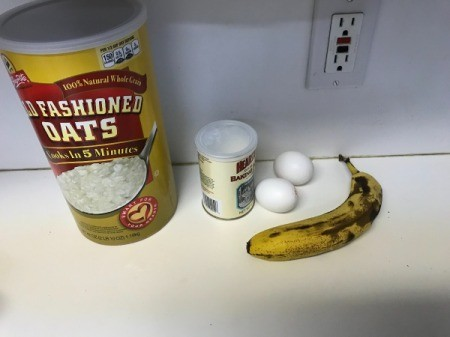 Oatmeal Banana Mini Loaf ingredients