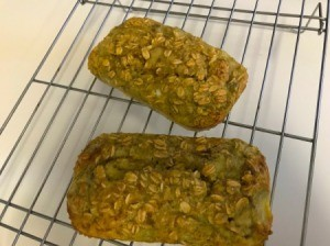 Oatmeal Banana Mini Loaf cooling on rack