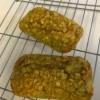 Oatmeal Banana Mini Loaf cooling on rack