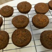 Bran Muffins cooling on rack