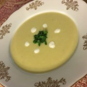 Creamy Leek and Fennel Soup in bowl
