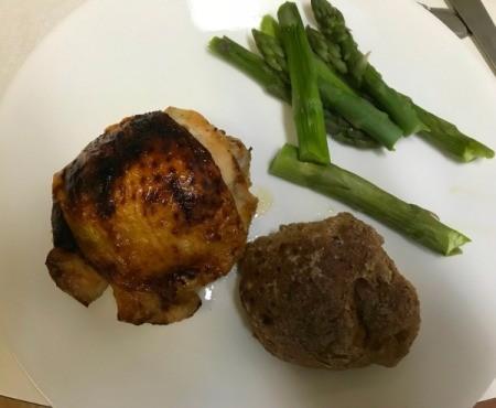 Honey Baked Chicken on dinner plate